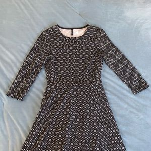 Divided by H&M Patterned Black Dress
